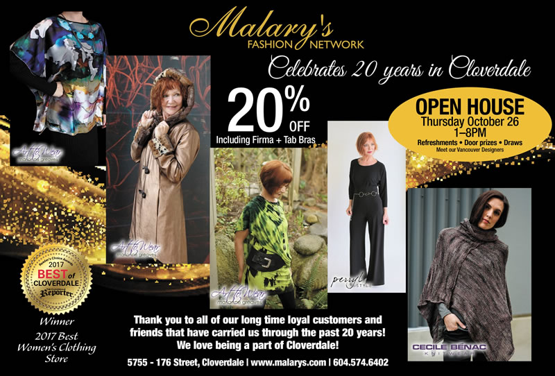 Malary's Fashion Network Open House - Save 20% October 26